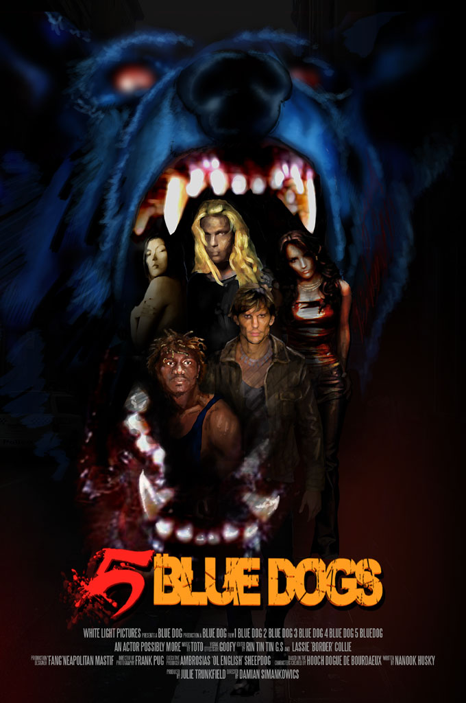 5 Blue dogs promotional poster