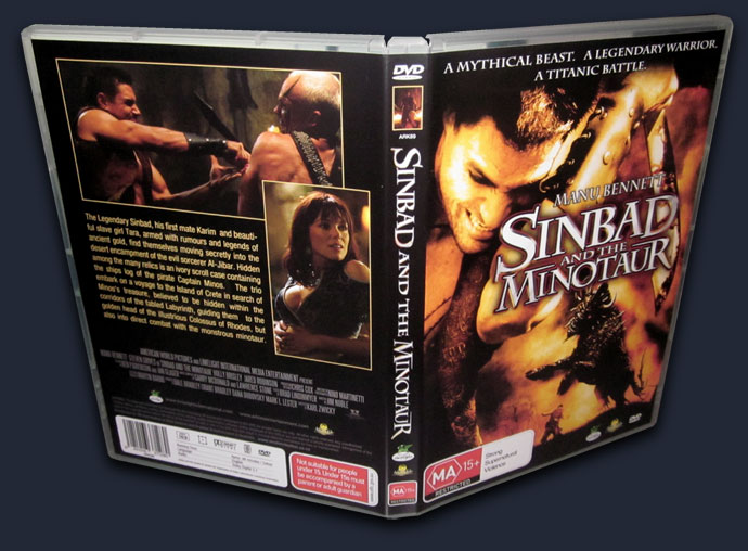 Cover Art created for Sinbad and the Minotaur Australian DVD release