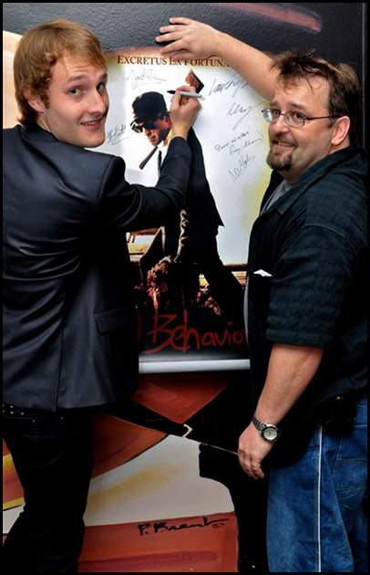 Director Joseph Sims Autographs Bad Behaviour Poster