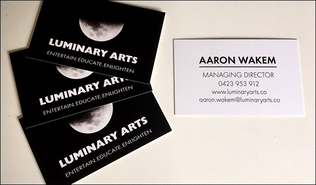 Business Cards created for Luminary arts