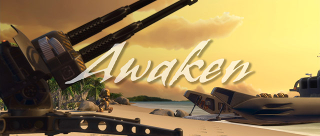 Title card for the Animated short - Awaken
