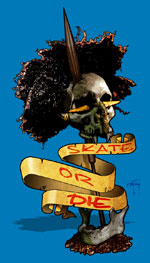 Artwork Created for undercarriage of custom skateboards