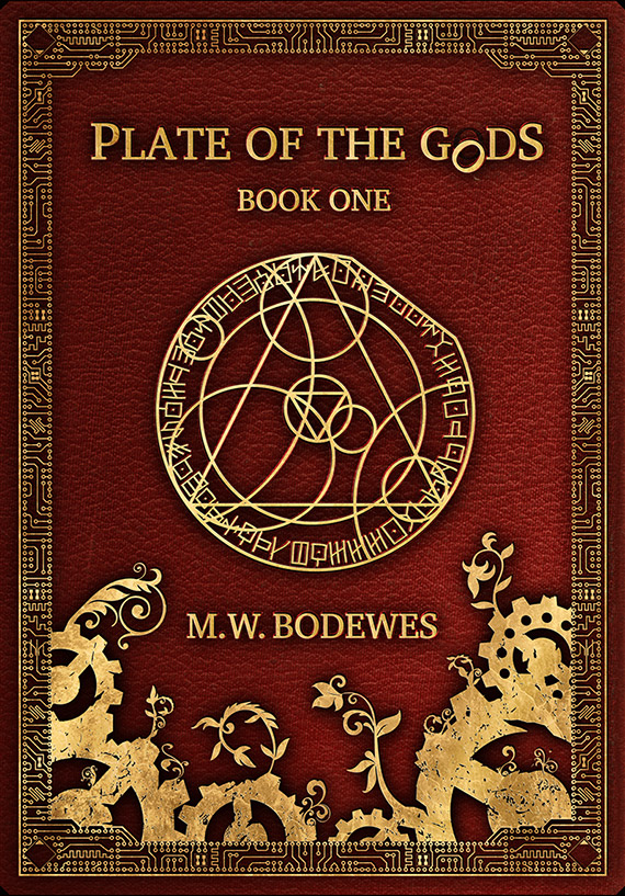 Cover artwork for Book one of the Plate of the Gods trilogy