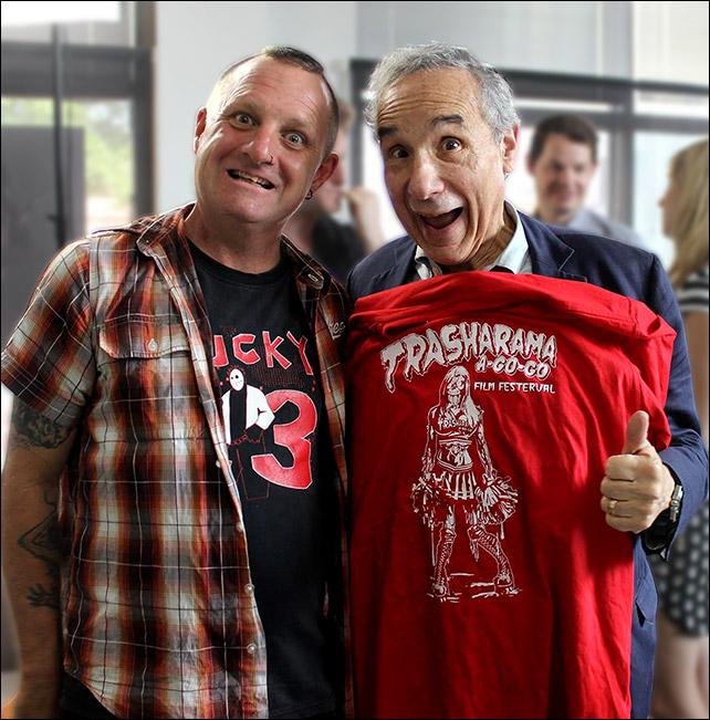 IT's Dick Dale of Trasharama alongside Lloyd Kaufman of Troma Entertainment