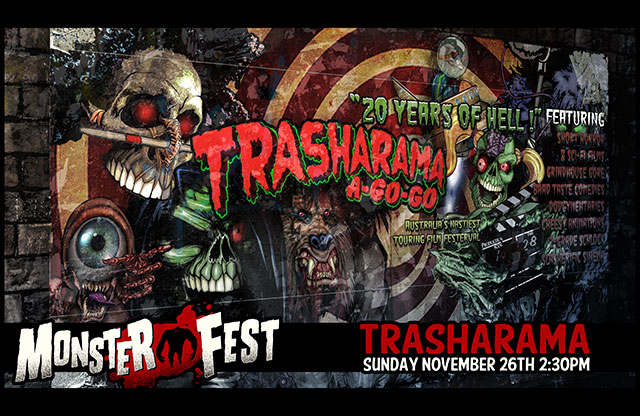 Trasharama art posted to promote the Melbourne Monster film fest