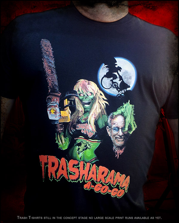 Full colour Trasharama T-shirt Design 2014