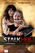 Stalkher feature film (2014) rural poster design featuring John Jarratt and Kaarin Fairfax