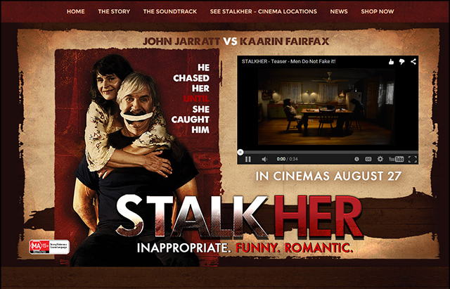 First display of artwork created by Arkahmhaus images to promote the John Jarrat's directorial debut -- STALKHER