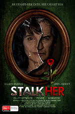 Designed as a parody of Mills and Boon cover art for John Jarratt's Stalkher(2014) film poster Art